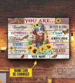 Hippie Girl You Are Beautiful Strong custom name Canvas Print #KV