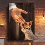 Yorkshire Terrier In the hand of God Canvas Print #KV