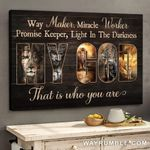 Jesus  lion My God the the light in the darkness Canvas Print #KV