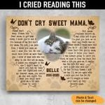 Don't Cry Sweet Mama Butterfly Pets Memorial custom name Canvas Print #KV
