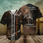 Amazing Lion And The Warrior Of God Baseball Jersey