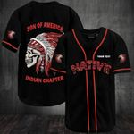 Native American Son Of America Indian Chapter Personalized Baseball Jersey