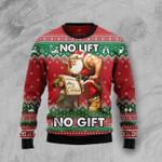 No Lift No Gift Santa Claus Workout Sweater
