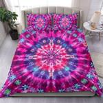 Pink Tie Dye Duvet Cover Bedding Set #118v