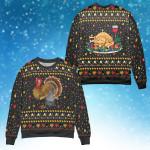 Turkey Happy Thanksgiving Sweater #v