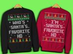 Where My Santa, Hohoho Ugly Sweatshirts Couple Set #V