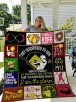 Playing Softball I Am the Storm Quilt Blanket #H