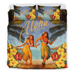 Aloha Hawaiian Summer Duvet Cover Bedding Set #DH