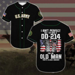 Gift For Father's Day DD-214 For An Old Man 3D Baseball Jersey #H