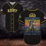 Gift For Dad U.S Army I'm A Dad Grandpa/Veteran 3D Baseball Jersey #L