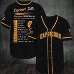 Capricorn Awesome Zodiac Facts 3D Baseball Jersey #L
