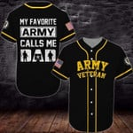 Gift For Father My Favorite Army Calls Me Dad 3D Baseball Jersey #Va