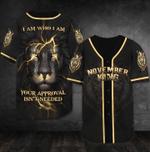Lion I Am Who I Am Custom Month 3D Baseball Jersey #H