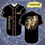 Personalized Golden Gemini Zodiac 3D Baseball Jersey #Dh