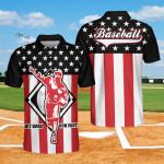 Hit Hard Run Fast Baseball Polo Shirt #Kv