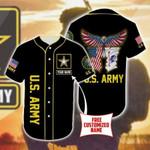 U.S Army Eagle Personalized Baseball Jersey #Dh