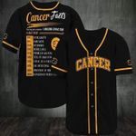 Cancer Awesome Zodiac Facts 3D Baseball Jersey #L