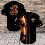 We Walk By Faith Jesus 3D Baseball Jersey #Kv