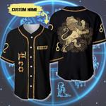Personalized Golden Leo Zodiac 3D Baseball Jersey #Dh