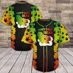 Weed Don't Care Bear 3D Baseball Jersey #Va