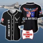U.S Airforce Eagle Personalized Baseball Jersey #Dh