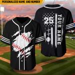 Baseball American Flag For Baseball Lover 3D Baseball Jersey #Dh