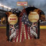 Personalized Fire Baseball American Polo Shirt #Dh