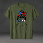FJB American messy girl unisex t-shirt 3D