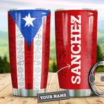 Puerto Rico Steel Tumbler with Your Name #V