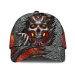 Satanism Skull fire Satanic Classic Cap hats head wear #V