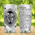 Skull Couple when I say I love you more Tumbler with Your Name #KV