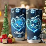 Sea Turtle Couple Stainless Steel Tumbler with Your Name #V