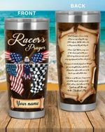 Racer's prayer Eagle Racing custom name Steel Tumbler #KV