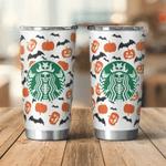 Starbucks Skeleton Halloween Steel Tumbler #KV