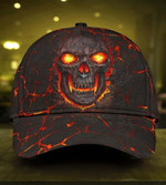Skull Lava fire Classic Cap hats head wear #V