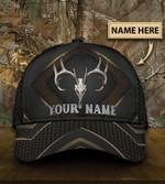 Skull Deer Hunter Carbon Classic Cap Personalized Name Hats Head Wear #KV