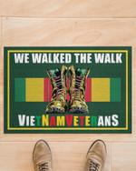 Vietnam Veteran We walk the walks Door mat #KV