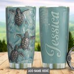 Turtle Ocean Tumbler with Your Name #KV