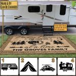 One campsite the droves family doormat custom name Door mat #KV