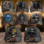 Skull American Flag Classic Cap Hats Head Wear #V