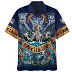 US Navy Shellback Hawaiian Aloha Shirts #KV