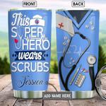 Nurse Hero Scrubs Steel Tumbler with Your Name #KV