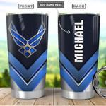 US Air Force Metal custom name Steel Tumbler #KV
