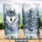 Winter Wolf custom name Steel Tumbler #KV