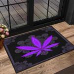 Purple weed doormat #KV