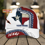 Texas Flag Custom Name Classic Cap #KV