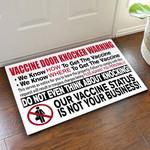 Vaccine door knocker warning We know how doormat #KV