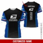 Custom name amazing honor USPS postal worker unisex t-shirt