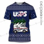 Merry Christmas Tis the season USPS postal worker unisex t-shirt