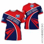USPS postal worker red navy unisex t-shirt